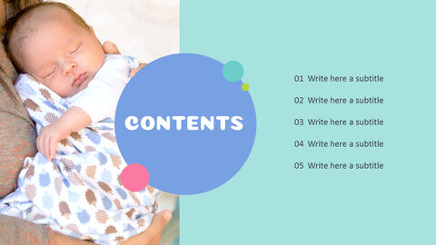 Lovely Baby Easy Presentation Template_03