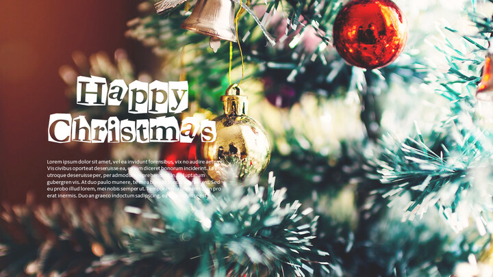 메리 크리스마스 편집이 쉬운 프레젠테이션 템플릿_02