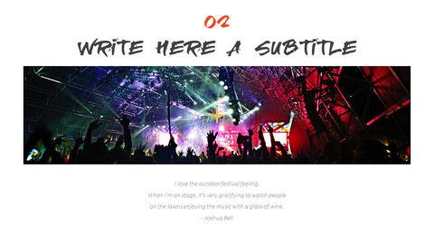 음악 축제 편집이 쉬운 프레젠테이션 템플릿_07