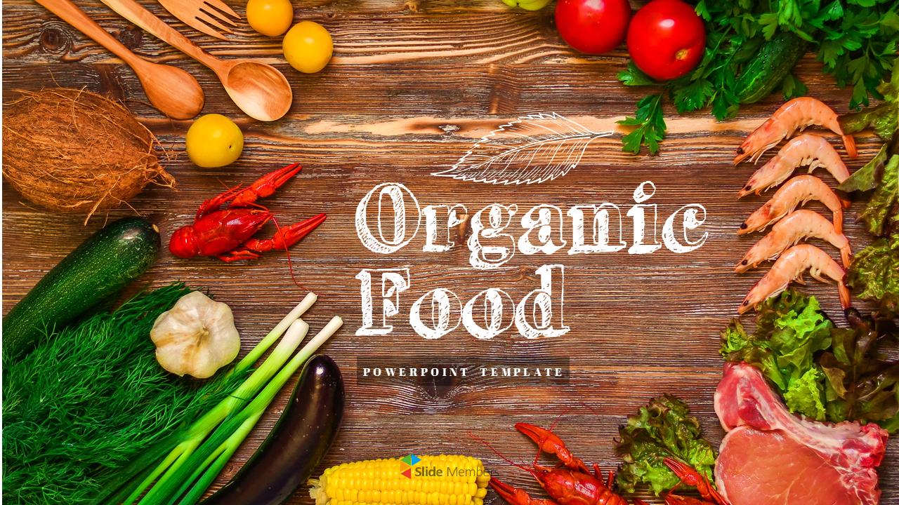 Organic Food Simple Powerpoint Template Design