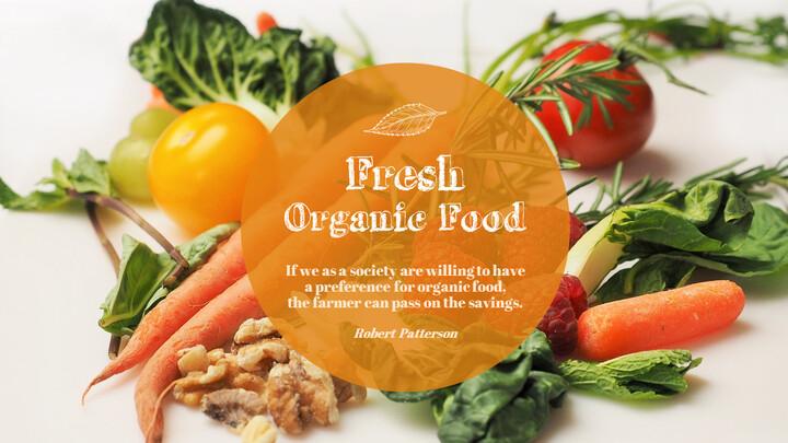 Organic Food Simple PowerPoint Template Design_02