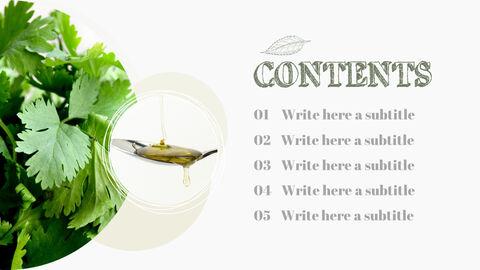 Organic Food Simple PowerPoint Template Design_03