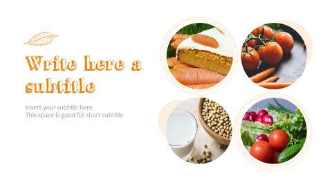 Organic Food Simple PowerPoint Template Design_04