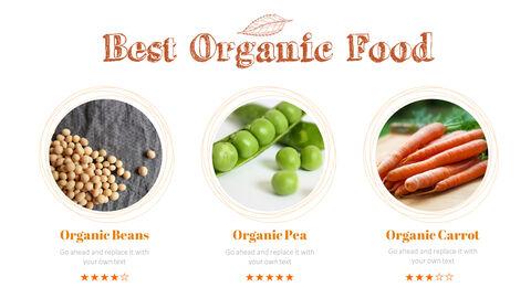 Organic Food Simple PowerPoint Template Design_05