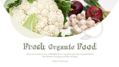 유기농 식품 심플한 파워포인트 템플릿 디자인_06