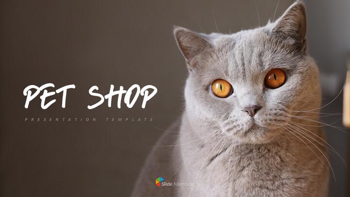 Pet shop Simple PowerPoint Template Design_01