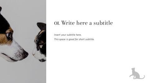 Pet shop Simple PowerPoint Template Design_04