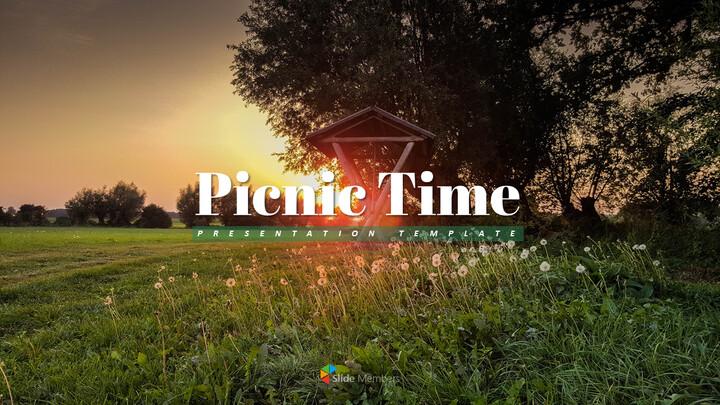피크닉 시간 - 편집이 쉬운 파워포인트 디자인_01