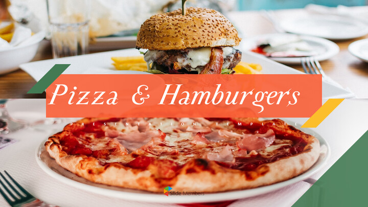 피자 & 햄버거 편집이 쉬운 PPT 템플릿_01