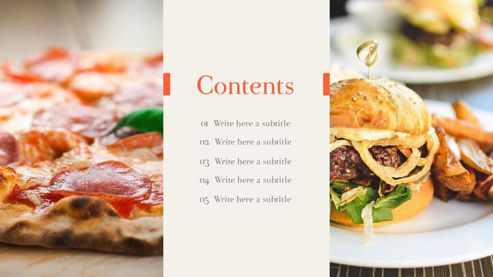 피자 & 햄버거 편집이 쉬운 PPT 템플릿_02