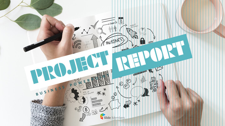 Project Report Simple PowerPoint Templates_01