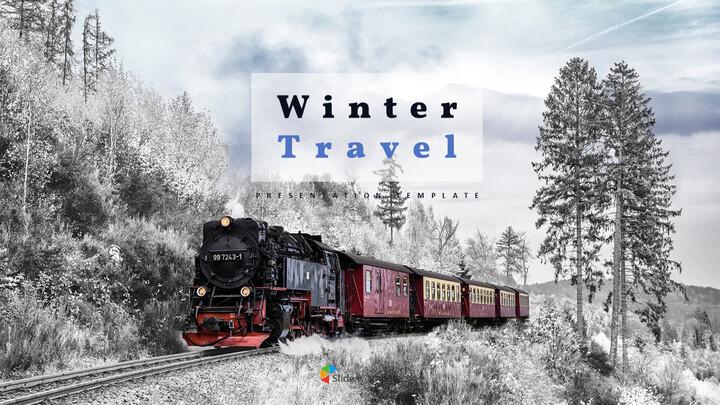 겨울 여행 심플한 파워포인트 템플릿_01