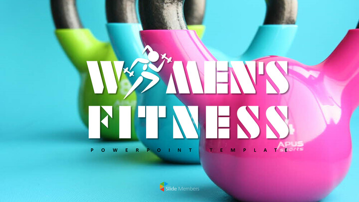 WOMEN\'S FITNESS Simple PowerPoint Templates_01