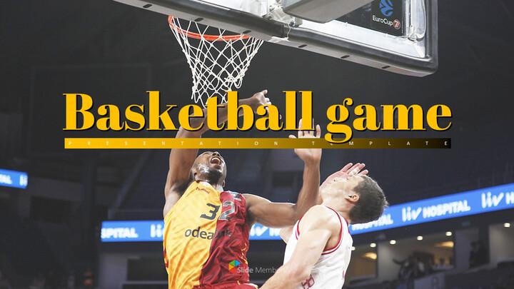 Basketball Game PPT Presentation_01