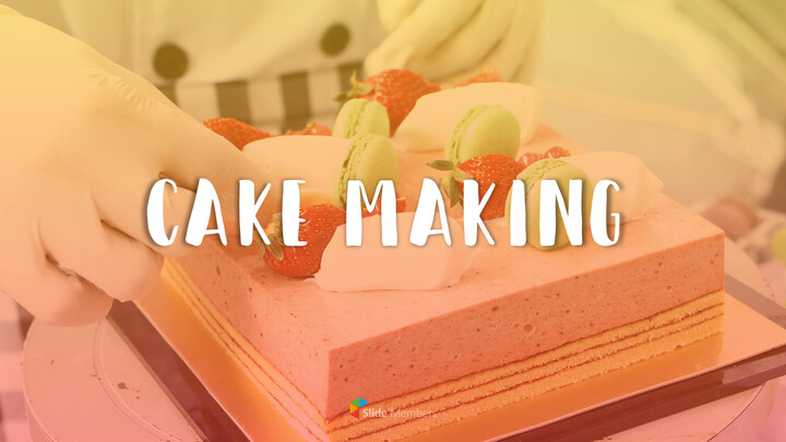 Cake Making Simple PowerPoint Design_01