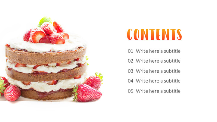 Cake Making Simple PowerPoint Design_02