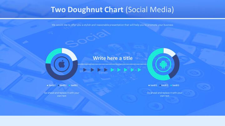 두 개의 도넛 형 차트 (소셜 미디어)_01