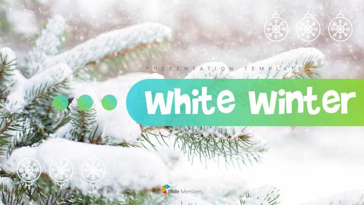 하얀 겨울 심플한 파워포인트 템플릿 디자인_01