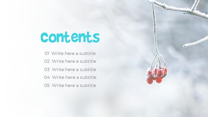 하얀 겨울 심플한 파워포인트 템플릿 디자인_02