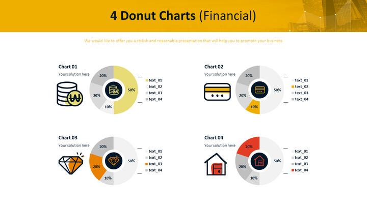4 개의 도넛 형 차트 (금융)_01