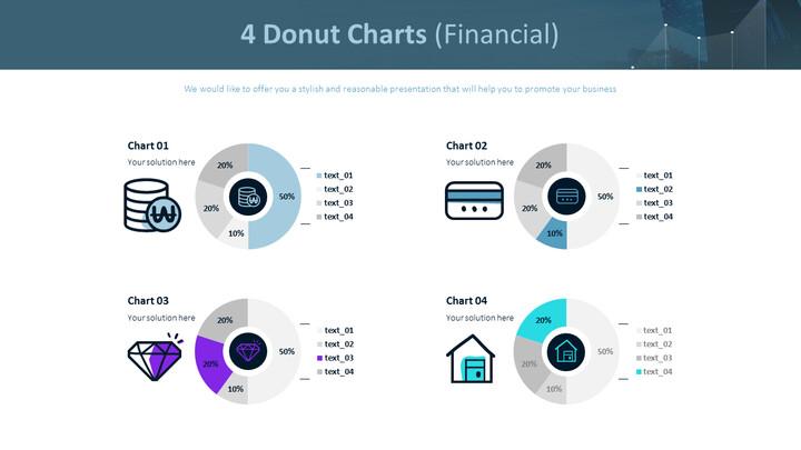 4 개의 도넛 형 차트 (금융)_02