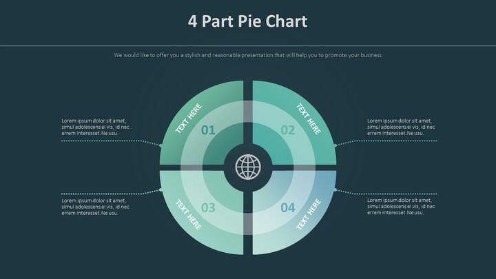 4 부분 파이 차트 다이어그램_02