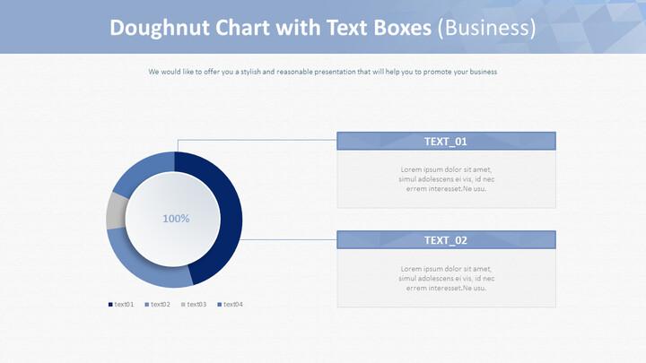 텍스트 상자가있는 도넛 형 차트 (비즈니스)_01
