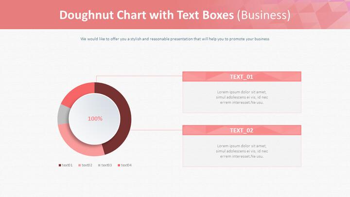 텍스트 상자가있는 도넛 형 차트 (비즈니스)_02