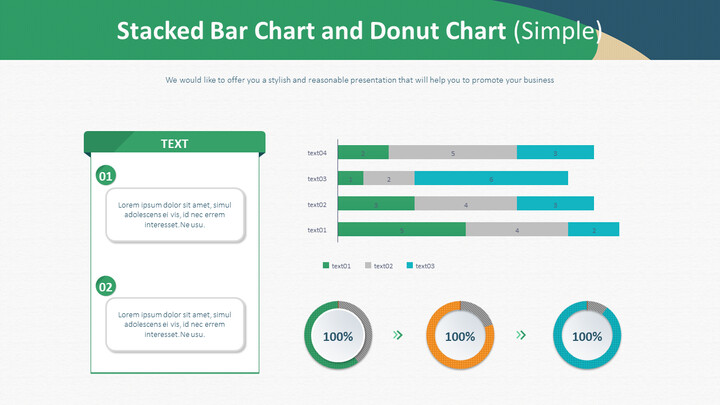 Stacked Bar Chart and Donut Chart (Simple)_01