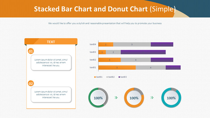 Stacked Bar Chart and Donut Chart (Simple)_02