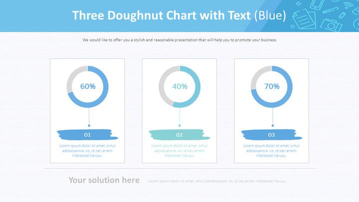 텍스트가있는 3 개의 도넛 형 차트 (파란색)_01