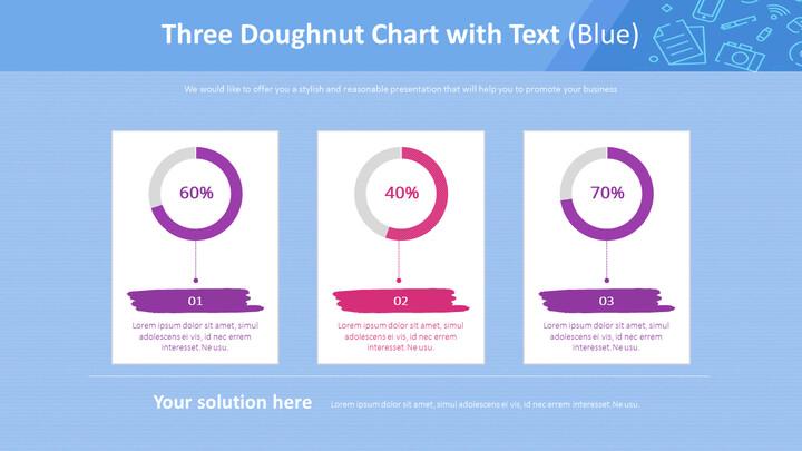 텍스트가있는 3 개의 도넛 형 차트 (파란색)_02