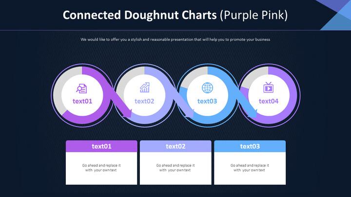 연결된 도넛 형 차트 (퍼플 핑크)_01