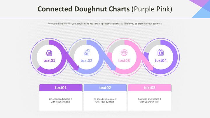 연결된 도넛 형 차트 (퍼플 핑크)_02