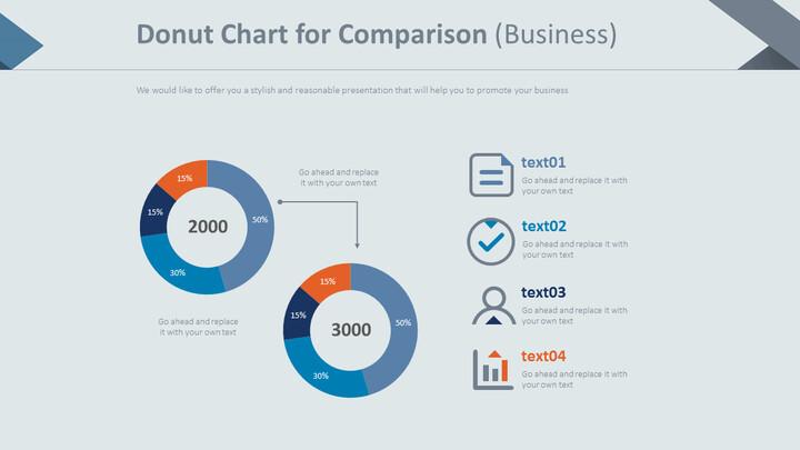 비교를위한 도넛 형 차트 (비즈니스)_01
