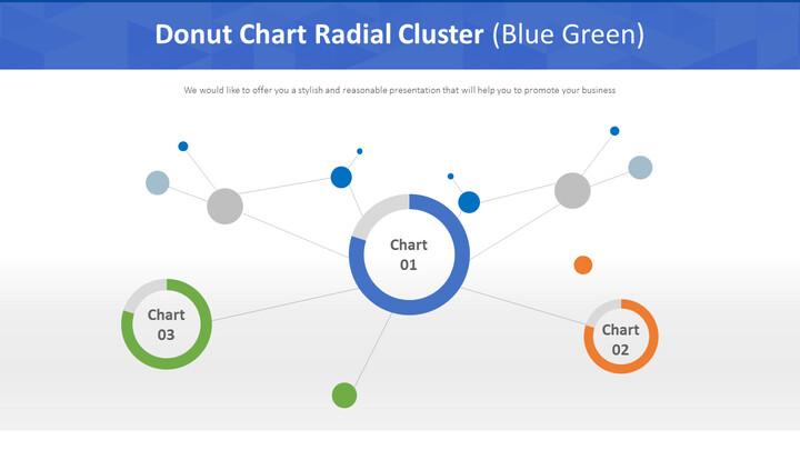도넛 형 차트 방사형 클러스터 (파란색)_01