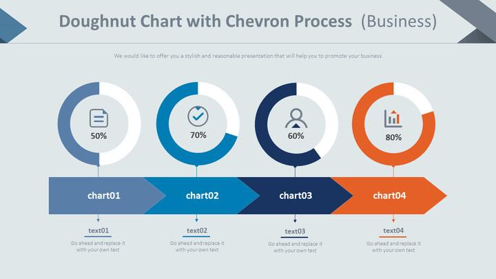 쉐브론 프로세스를 사용한 도넛 형 차트 (비즈니스)_01