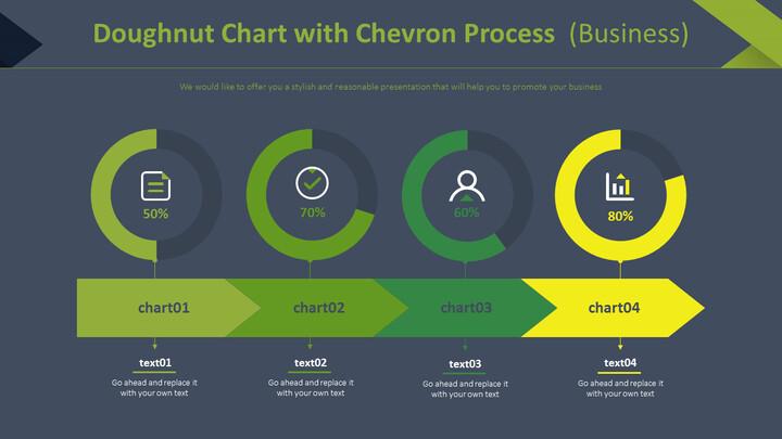 쉐브론 프로세스를 사용한 도넛 형 차트 (비즈니스)_02