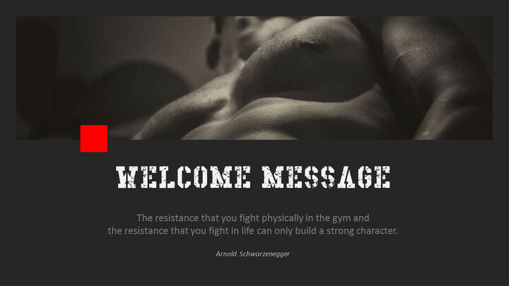 Gym and Fitness PowerPoint Templates for Presentation_02