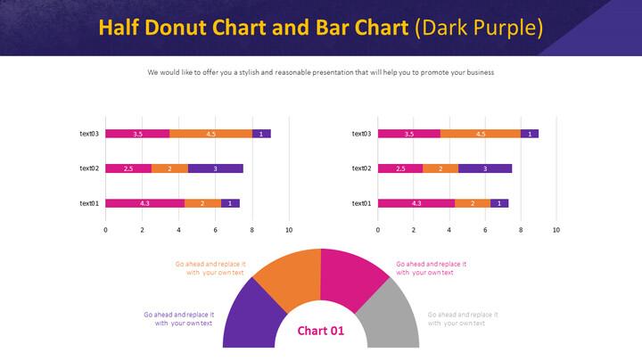 하프 도넛 형 차트 및 막 대형 차트 (진한 자주색)_01
