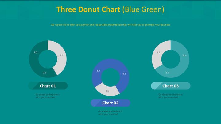 3 개의 도넛 형 차트 (파란색)_02