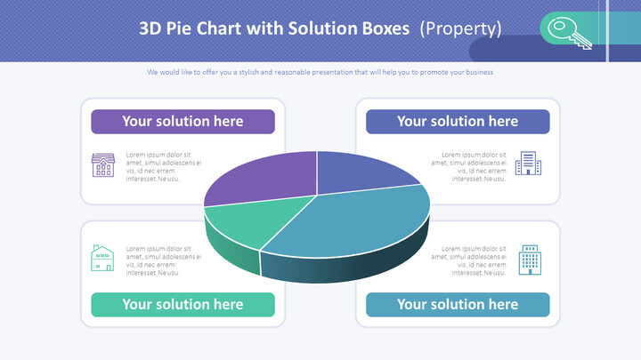 솔루션 상자가있는 3D 원형 차트 (속성)_01