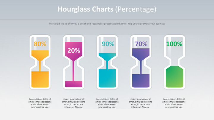 Hourglass Charts Diagram (Percentage)_01