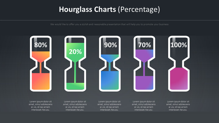 Hourglass Charts Diagram (Percentage)_02
