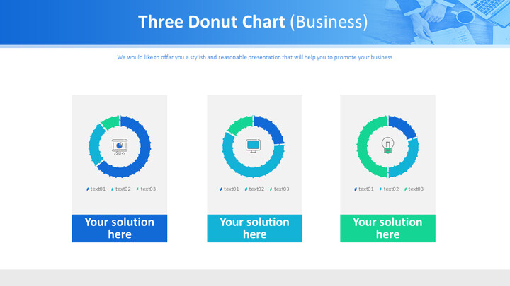 3 개의 도넛 형 차트 (비즈니스)_01