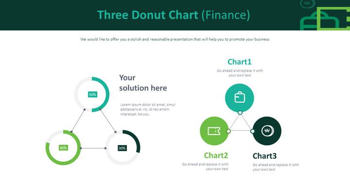 3 개의 도넛 형 차트 (금융)_01