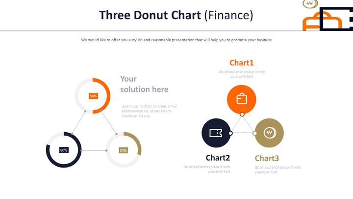 3 개의 도넛 형 차트 (금융)_02