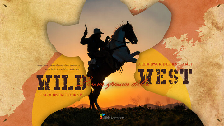 Wild West Theme Presentation Templates_01