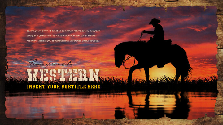 Wild West Theme Presentation Templates_02