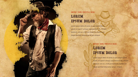 Wild West Theme Presentation Templates_03